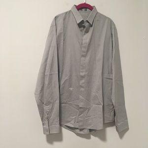 Dior Grey Button Dress Work Top 42